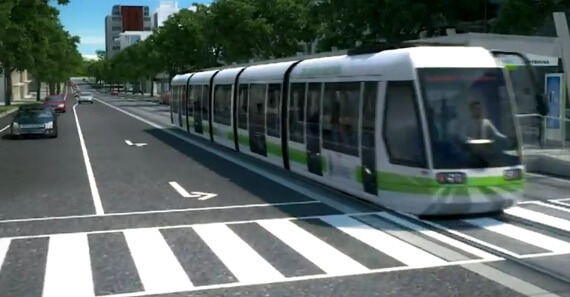 [Concept] At-grade Light Rail Transit on 104th Avenue. It might loook good in this concept, but the reality is that such an implementation will cause so many problems.