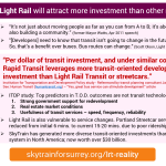 MYTH: Light Rail will attract more investment than other modes; Reality: Both SkyTrain & BRT shape communities.