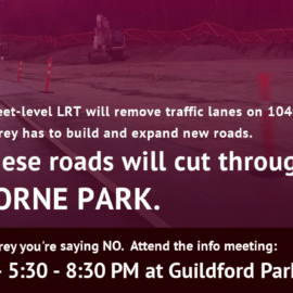 Say NO to the destruction of Hawthorne Park for LRT