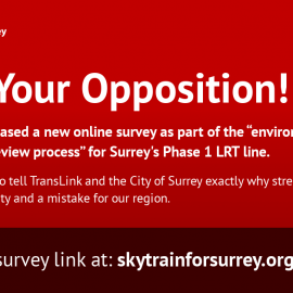 "Voice Your Opposition: LRT survey for ""environmental and socio-economic review"""