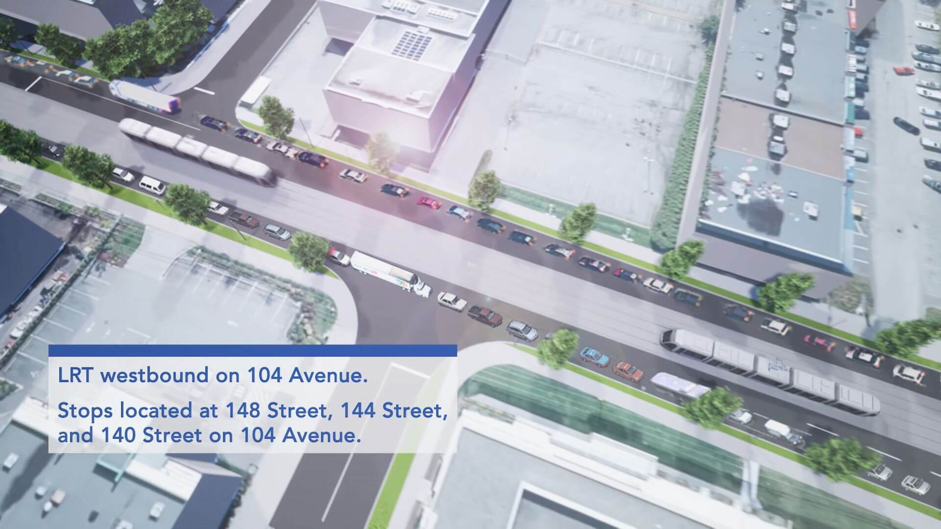 Surrey LRT rendering photoshops out traffic congestion