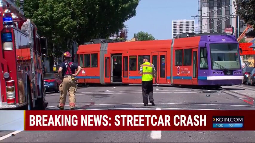 Commuter chaos: Portland streetcar shut down for entire day after streetcar derails in crash