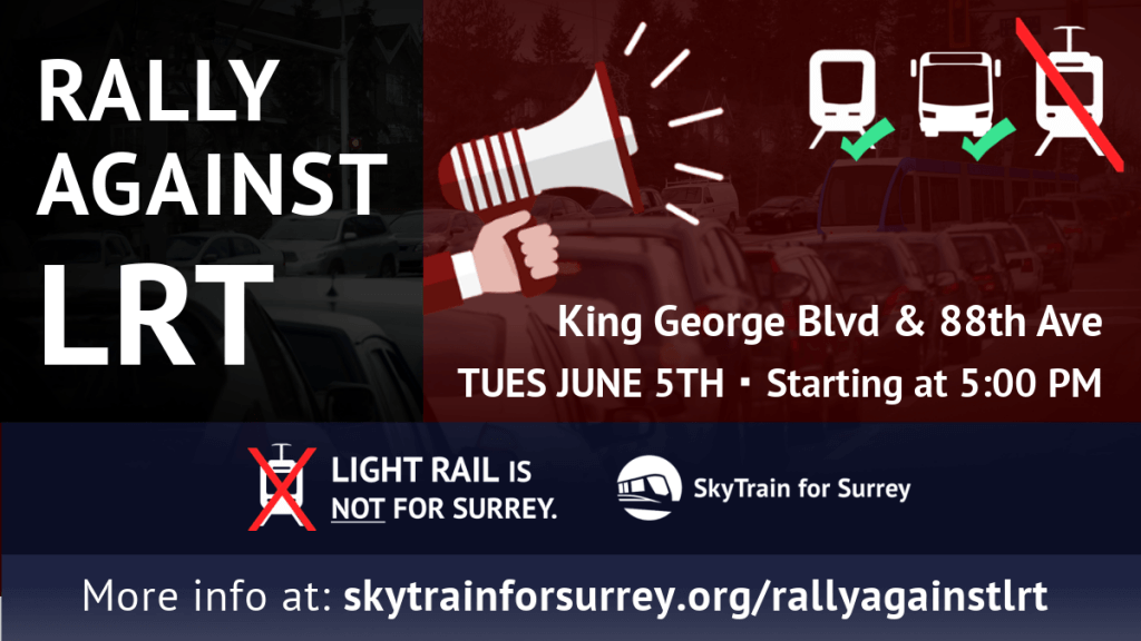 Join us for a RALLY AGAINST LRT on June 5th