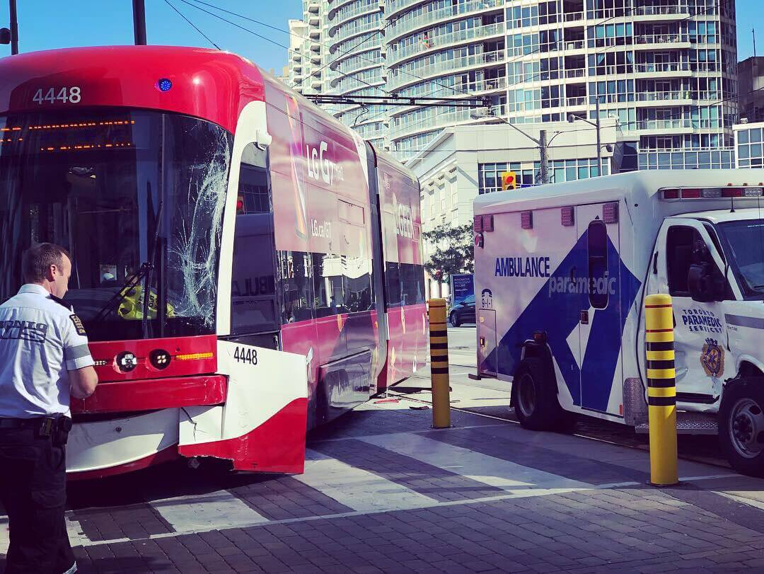 Toronto streetcar derails in collision, service disrupted for several hours