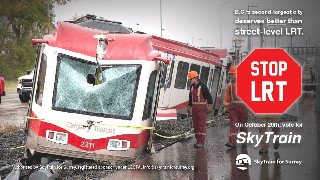 Fatal light rail accidents in Calgary are a wake-up call for Surrey voters
