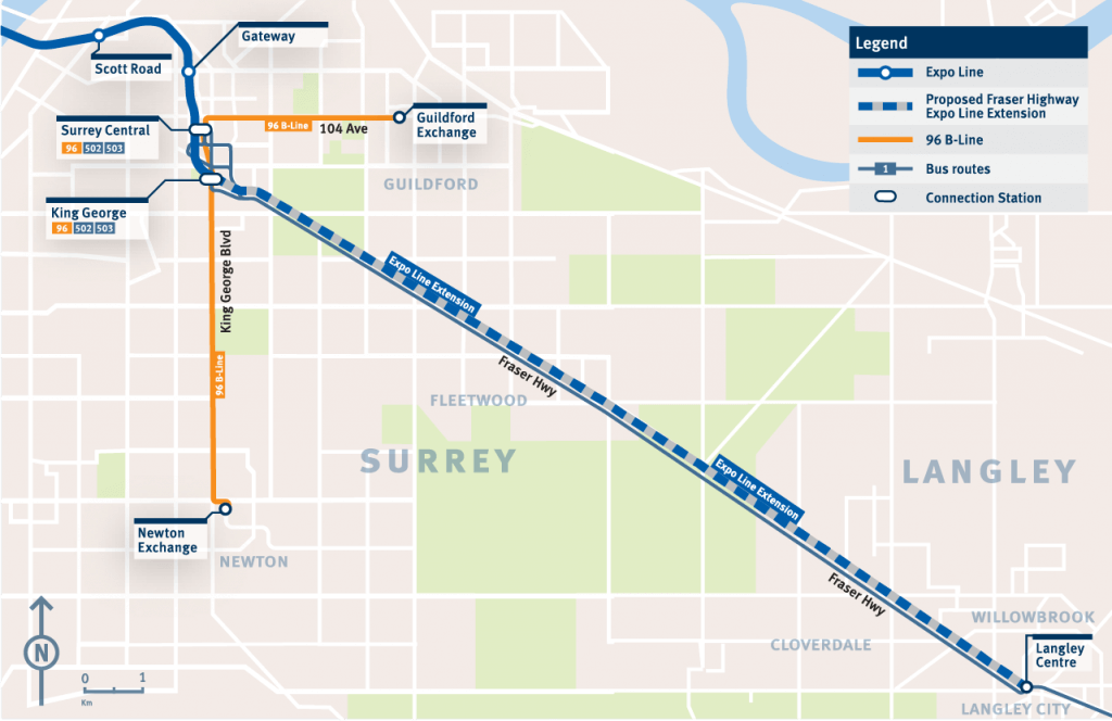 Surrey-Langley SkyTrain highly supported in Metro Vancouver region (poll)