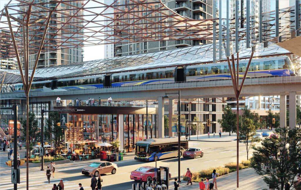 Massive development proposal will create Surrey's equivalent of Burrard SkyTrain Station